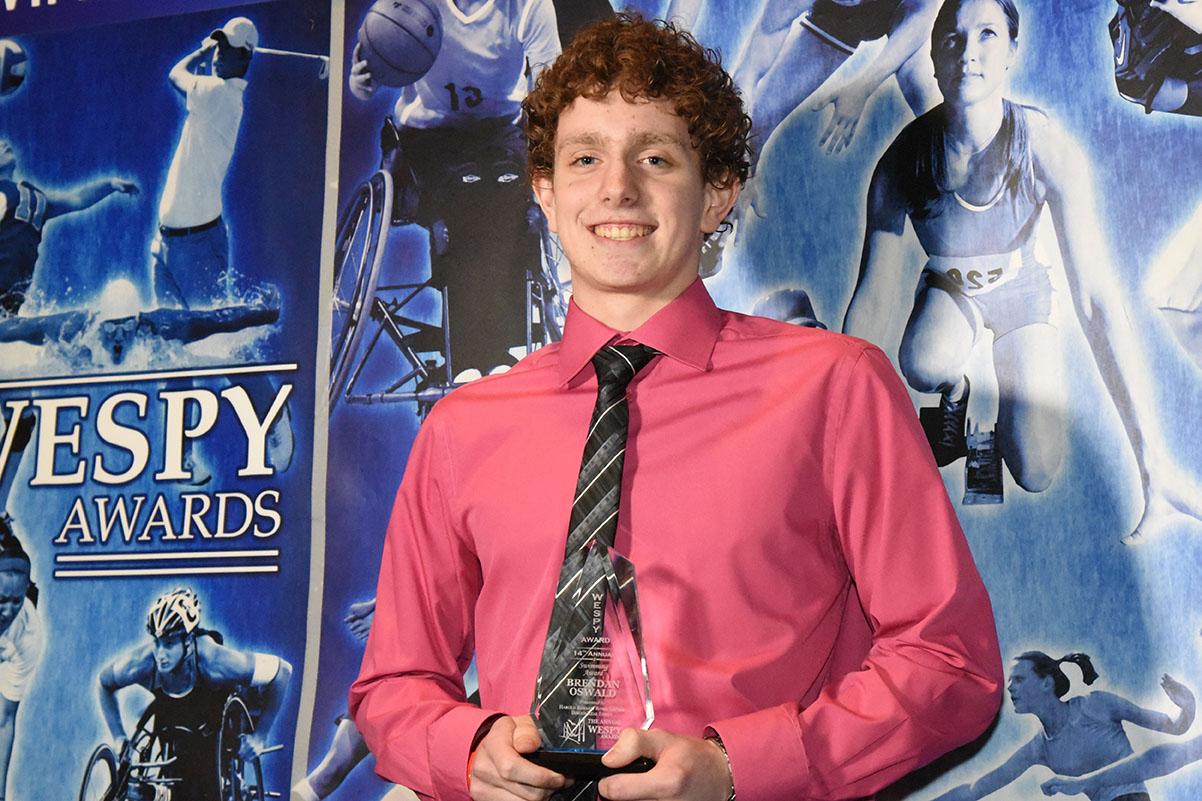 Male Swimming Award Brendan Oswald
