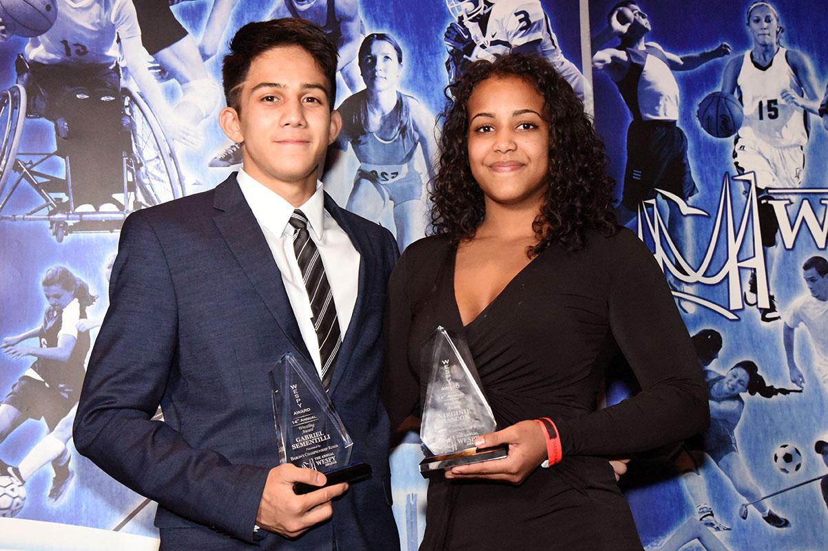 Wrestling Awards Female Virginie Gascon, Male Gabriel Sementilli